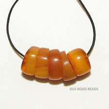5 antique natural real amber beads yemen african trade #78b 7.8 克天然琥珀珠