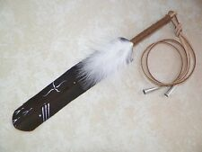 "Native American Eagle Feather Hair Tie 11""  Pow wow Regalia Smudging The Journey"