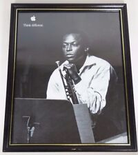 Vtg 1999 APPLE COMPUTERS THINK DIFFERENT MILES DAVIS 11x14 ADVERTISING POSTER