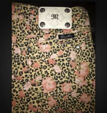 Miss Me Shorts Cream Multi Flower Leopard Spots JP6182H Sz 25, 26, 27 Or 28 $89