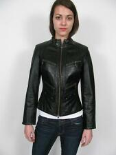 DANIER LEATHER SEXY SLIM FIT TAILORED ZIP MOTO BLACK GORGEOUS JACKET COAT~P 4/6