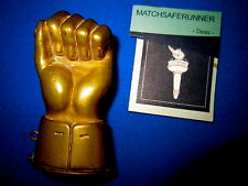 ORIGINAL CLENCHED FIST & BOLT MATCH HOLDER VESTA CASE MATCH SAFE STRIKER
