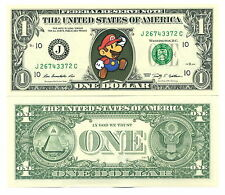 SUPER MARIO BROS - VRAI BILLET de 1 DOLLAR US ! Collection Jeu Vidéo Nintendo #2