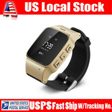 Dual Wifi GPS GSM Position Tracker Voice Monitor Wrist Watch SOS For Old Person