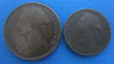 Großbritannienn Lot 1 Penny 1891, 3 x 1/2 Penny 1876,1887,1895 in s - ss   (E86)