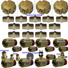 xfitx Air suspension valve Fitting Kit Everything U need for 8-Brass Valves 3/8""