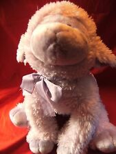 "Russ Berrie pinky / purple  large  Lamb / sheep Soft plush toy. 19"" approx"