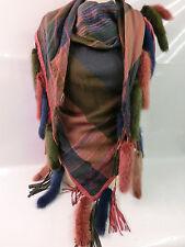 # CHRISTIAN DIOR Vintage Mink Nerz Fringe 70s Fur Stola Poncho Schal Hippie