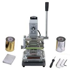Hot Foil Stamping Printing Machine Tipper PVC Credit Card + Silver & Golden Roll