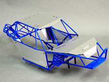 AXIAL WRAITH RR10 BOMBER All Metal FRAME BODY ROLL CAGE  w/ Metal Sheets BLUE