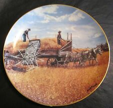 Danbury Mint HARVESTING AT LAST Farming The Heartland SIGNED Collector Plate J69