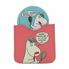 Official Moomins Character Ladies Compact Cosmetic Mirror with Pouch
