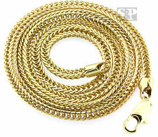 (USA Seller) Mens 14K Gold PT Hip Hop 36 Inch 4mm Franco Chain Rapper's Necklace