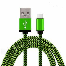 Green Braided Micro USB 3.1 Sync Charger Cable Lead For Huawei P9