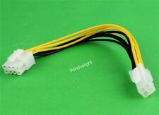 New ATX 4pin Male to 8pin Female Power transition Extension Adapter Cable Wire