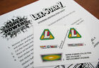 SUPER POWERS COLLECTION REPLACEMENT STICKERS for Kenner 1984 LEX-SOAR 7