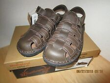 Men's Weatherproof Brown Leather Sandals Size 11 New