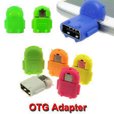 Micro USB OTG Adapter Mini Portable Robot Shape Android Converter PC Smartphone