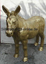 Angebot Esel in Gold Figur Groß Lebensgroß Heu Gartenfigur Garten Goldesel