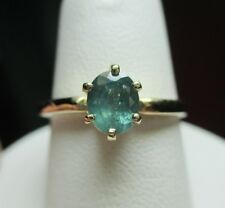 Vintage 14kt .95ct Natural Color Change Alexandrite Solitaire Ring