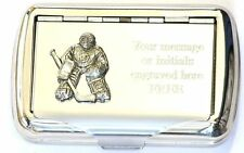 Ice Hockey Goalie Tobacco Hand Rolling Cigarette Tin Keeper Tender Gift