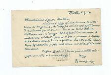 Lettera Autografo Fisico Matematico Bruno Finzi al Museo Civico Naturale Genova