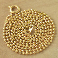Diverting 9K Solid Gold Filled Beaded Womens Chain Necklace,20 Inch,Z4157