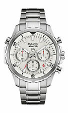 New Bulova 96B255 Marine Star Chronograph Stainless Steel Men's Watch