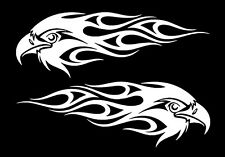 "PAIR OF TRIBAL EAGLE IN FLAMES VINYL DECAL STICKERS FOR CAR LAPTOP ETC. 11""X4"""