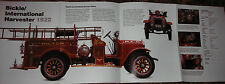 HUGE! BICKLE/INTERNATIONAL HARVESTER 1922 FIRE ENGINE POSTER truck picture print