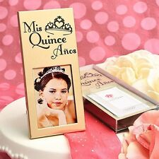 20 Gold Quinceanera Place Card Picture Frames 15th Birthday Party Favors
