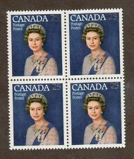 Canada Scott 704 - Queen Elizabeth 25 Cent. Block Of 4. MNH. OG.#02 CAN704
