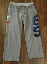 WOMENS (L) GRAY- VICTORIAS SECRET PINK- KU LOGO AND BLING BLUE NUMBERS
