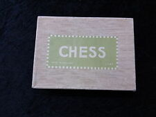 C1970's Wooden Chess Set in Oroginal Box (no board)