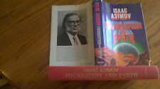FOUNDATION AND EARTH, ISAAC ASIMOV 1986 *STATED* 1ST EDITION! DOUBLEDAY, HC&DJ