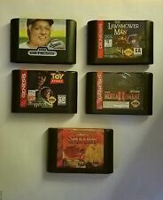 SEGA GENESIS LOT OF 5 GAMES  TOY STORY, SAMUARI SHODOWN, MORTAL KOMBAT II & MORE