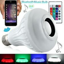 LED RGB Color E27 Bluetooth Control Smart Music Audio Speaker Bulb Light Lamp ET