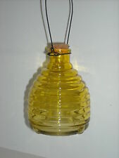 Decorative Hanging Wasp Bee / Fruit Fly Trap Yellow Glass  clearance