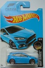 2016 Hot Wheels Night Burnerz 10/10 '16 Ford Focus RS 90/250 (Blue)(Int. Card)