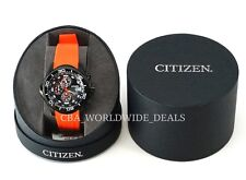 NEW Citizen BJ2119-06E Eco-Drive Promaster Chronograph Diver's Watch - Orange