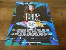 LORDE - We love green !!! Publicité de magazine / Advert !!!