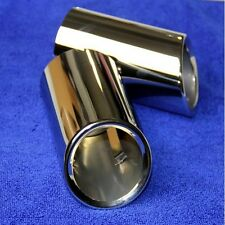 Chrome Exhaust Muffler Tip Pipe For VW Jetta 6 Golf 6 MK6 2009 2010 2011 2012