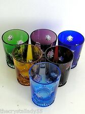 AJKA SNOW CRYSTALS CASED CUT TO CLEAR CRYSTAL SHOT / VODKA Set of 6