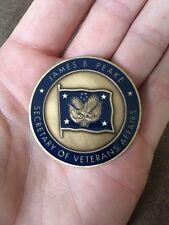 **PRIVATE SALE** Challenge Coin 6th Secretary of Veterans Affairs James Peake