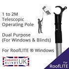 Roof Skylight Operating Rod Pole for RoofLITE Windows & Blinds - 2M Telescopic