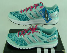 "New Womens 10 ADIDAS ""Duramo 6"" Mint Teal Cheetah Running Shoes $100 C76271"