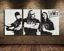 Not Framed 3pc Canvas Prints Home Deocr Wall Art Pictures art NWO wrestling