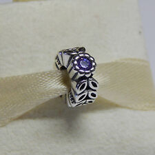 Authentic Pandora 791224cfp Purple Twice As Nice Spacer Box Included