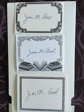 Jean M. Auel, Author Signed Bookplate