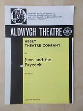 1960's ALDWYCH THEATRE PROGRAMME - JUNO AND THE PAYCOCK - ABBEY THEATRE COMPANY